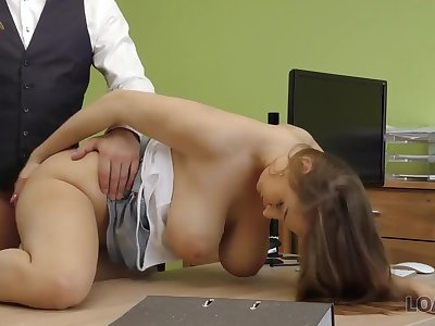 LOAN4K. Hot sex in the loan office of Suzie Sun and tricky manager