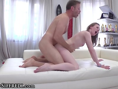 Rocco Siffredi Stretches Skinny Teen's Ass in Casting Vid
