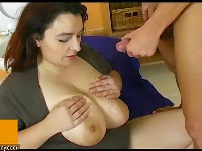 OldNanny Pretty chubby granny was fucked from  guy