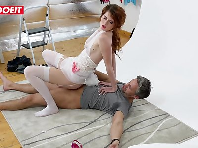 LETSDOEIT - Sexy Redhead Model Fucks Photographer On Set