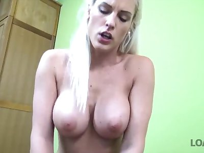 LOAN4K. Absolutely gorgeous blonde girl has wonderful sex for cash