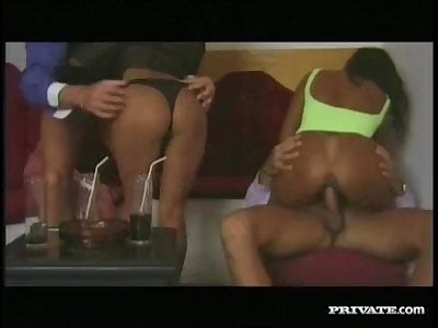 Two Exotic Babes for a DP Orgy