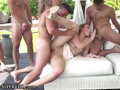 RoccoSiffredi Euro Teen, Champagne On Ass & Football Gangbang