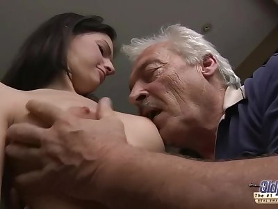 75 yo grandpa fucks young sewer girl