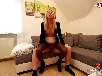 My Dirty Hobby - Blonde slut takes massive facial