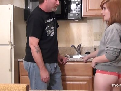 Step dad fucks Daughter in the Kitchen