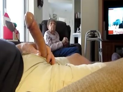 showcasing cock to wifes mother