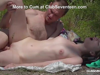 Outdoor Fucking Session with Skinny Teen